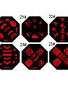 nail art stämpel stämpling bild mall platta qa-serien