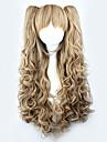 Perruques de lolita Jaune / Blonde Cosplay Boucle Perruque Lolita  28 pouce Perruques de Cosplay Couleur Pleine Perruque Perruques d\'Halloween