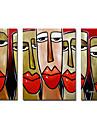 handmålade oljemålning människor överdimensionerade bred uppsättning 2