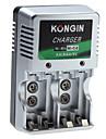 Kongin Laddare för Ni-MH Ni-CD AA AAA 9V batteri