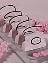 12 buc / titular favoarea set - creație de hârtie carte de cutii favoarea roz pungă carouri