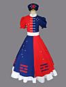 Inspirerad av Touhou Project Eirin Yagokoro Video Spel Cosplay-kostymer cosplay Suits Klänningar Färgblock Kortärmad Klänning Skärp Hatt