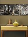 Moderne/Contemporain Paysage Horloge murale,Carré Toile 12*12;16*16;20*20;24*24 Horloge