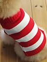 Pisici Câine Pulovere Îmbrăcăminte Câini Dungi Rosu Bumbac Costume Pentru animale de companie Bărbați Pentru femei Modă Crăciun