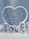Vârfuri de Tort Personalizat Inimi Cristal Nuntă / Petrecerea Bridal Shower / Aniversare Temă Clasică Geantă de Cadouri