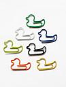 rață stil agrafe colorate (de culoare aleatorii, de 10-Pack)