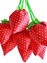 jordgubbe designen textil shoppingväska (slumpvis färg)