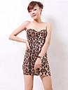 Pentru femei Bodycon Rochie - Fără Spate, Leopard