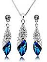 elegant set de bijuterii piatră prețioasă pentru femei (cercel și colier)