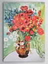 Hang målad oljemålning HANDMÅLAD - Känd Samtida Duk