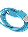 Cablu USB la Micro USB , Albastru (1M)