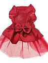 Câine Rochii Îmbrăcăminte Câini Nuntă Modă Solid Paiete Rosu Albastru Costume Pentru animale de companie