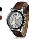 Erkek Bilek Saati Quartz Kapitoneli PU Deri Siyah / Beyaz / Kahverengi Gündelik Saatler Analog İhtişam Elbise Saat - Beyaz Siyah Kahverengi