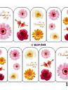 1PCS eau Transfer Printing Nail Stickers NO.9 (couleurs assorties)