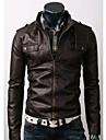 Jachetă De Bărbați Scurtă Din Piele