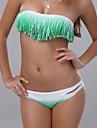 închis gradient de verde Acasia bikini pentru femei
