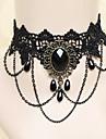 Bijuterii Lolita Stil Gotic Lănțișor lolita Pentru femei Negru Lolita Accesorii Dantelă Colier Dantelă Pietre Prețioase Artificiale Aliaj