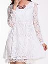 Femei guler rotund Lace Lady Slim rochie mini