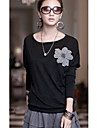 Femei margele Flower T-Shirt