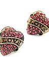 Cercei Stud Iubire Inimă La modă bijuterii de lux imitație de diamant Aliaj Heart Shape Bijuterii Pentru Zilnic
