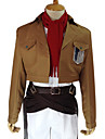 Inspirerad av Attack on Titan Mikasa Ackermann Animé Cosplay-kostymer cosplay Suits Enfärgad Långärmad Kappa Skjorta Byxor Skärp Midje