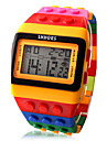 Per donna Orologio digitale Orologio quadrato Digitale Sveglia Calendario Cronografo Digitale Donne Caramelle Di tendenza Legno - Arancione Due anni Durata della batteria / LCD / Desay CR2025