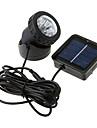 6-LED Vattentät Vit Ljus Solar Powered Spotlight Trädgård Outdoor Flood Lamp (CIS-57157)
