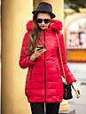 ts guler de blană subțire lungă sacou jachetă în jos cald și confortabil temperament