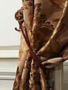 Două Panouri Tratamentul fereastră Neoclasic European Poliester Material perdele, draperii Pagina de decorare For Fereastră