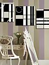 Canvas Art Rezumat Mp întinse negru și alb Set de 3