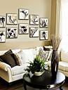 Pânză Înrămată Set Înrămat Floral/Botanic Wall Art, PVC Material cu Frame Pagina de decorare cadru Art Sufragerie Cameră Copii