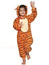 Kigurumi Pijamale Tigru Leotard/Onesie Festival/Sărbătoare Sleepwear Pentru Animale Halloween Portocaliu Peteci Kigurumi Pentru Copil