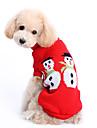 Câine Pulovere Îmbrăcăminte Câini Draguț Keep Warm Crăciun Solid Costume Pentru animale de companie