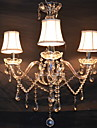 QINGMING® 3-Light Lumânare stil Candelabre Iluminare verticală - Cristal, 110-120V / 220-240V Becul nu este inclus / 10-15㎡ / E12 / E14