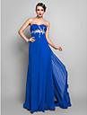 Teacă / coloană drăguț podea lungime șifon rochie de bal cu aplicații lateral draping de ts couture®
