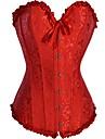 Sexy corset fără bretele Red CAOJI femei și T-back