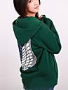 Inspirerad av Attack on Titan Mikasa Ackermann Animé Cosplay-kostymer cosplay Pull Tryck Långärmad Kappa Till Kvinna