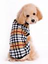 Kat Hond Truien Hondenkleding Geruit Bruin Wollen Kostuum Voor Husky Labrador Bulldog Lente & Herfst Winter Heren Dames Klassiek Houd Warm