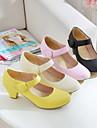 damskor rund tå chuncky häl Mary Jane pumpar skor fler färger tillgängliga