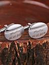 Personlig gåva Manschettknappar Metall Unisex Affär Glam Moderna Present