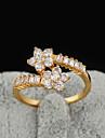 Yueli femei 18K aur zircon Ring J1209