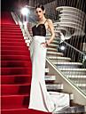 Mermaid / trompeta spaghete curele matura / perie tren stretch satin rochie seara sequins cu cristal de ts couture®