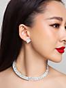 Calitatea cehă pietre aliaj placat cu colier de mare nunta si cercei set bijuterii