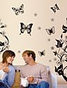 Fleurs et papillons amovibles décor de mur Stickers muraux