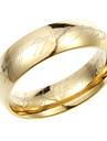 Inele clasice de titan de aur pentru bărbați