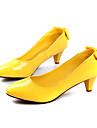 Pantofi pentru femei - Imitație de Piele - Toc Mic - Tocuri - Pantofi cu Toc - Rochie - Negru / Galbem / Roz / Roșu / Alb / Orange