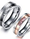 Pentru femei Inele Cuplu Cristal Iubire Inimă Cristal Teak Diamante Artificiale Bijuterii Bijuterii Pentru Nuntă Petrecere Zilnic