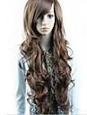 Parrucche sintetiche Con frangia Parte laterale Per donna Parrucca di carnevale Parrucca di Halloween Lungo