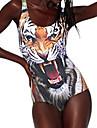 Femei Fierce Tiger tatuaj dintr-o bucata Costume de baie