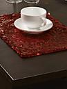 Set med 4 Moderna Röda Paljetter bordstabletter